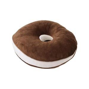 低反発ウレタンチップ入 らくらく円座クッション ブラウン 座布団 リラックス ドーナツ型