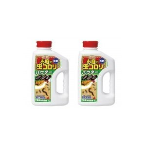(代引・同梱不可)アース製薬 お庭の虫コロリ パウダー(粉剤) 1kg ×2本 殺虫剤 侵入防止 害...
