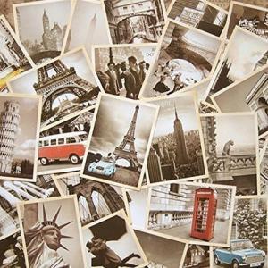 外国 ヴィンテージ 風 ポストカード ( 観光地 大量 32枚 セット ) 海外 レトロ デザイン アメリカン ヨーロッパ|zembuzembu