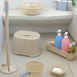 アイリスオーヤマ 風呂椅子 バスチェア 座面20? 抗菌 防カビ 撥水 パールベージュ お風呂 椅子 BI-200AG|zembuzembu