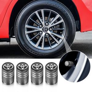 Qingtech for Toyota バルブキャップ 車 トヨタ エアー バルブ キャップ 車用メタル 腐食 防止 4個組 (グレー)|zembuzembu
