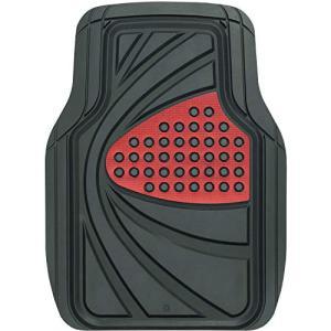 ボンフォーム カーマット デザインラバーマット 軽/普通車 フロント 1枚 防水 丸洗いOK ストッ...