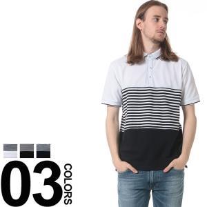 NOTA BENE ノータベネ 鹿の子 ボーダー 切り替え 半袖 ポロシャツ|zen