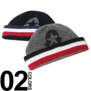 モンクレール MONCLER ワッチキャップ ウール トリコロールライン入り MC002490009889 zen