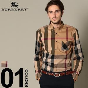 バーバリー BURBERRY シャツ 長袖 チェック柄 ボタンダウン ブランド メンズ トップス シャツ バーバリーチェック コットン BB4045831|zen