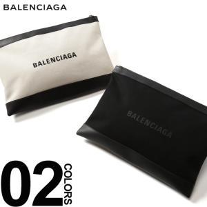 バレンシアガ BALENCIAGA クラッチバッグ キャンバス ロゴ プリント レザー NAVY CLIP L ブランド レディース メンズ 鞄 バッグ BC373840AQ3BN|zen