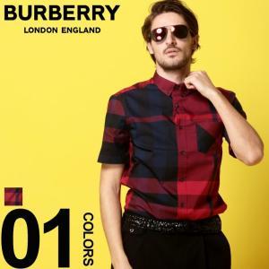 バーバリー BURBERRY シャツ 半袖 バーバリーチェック ボタンダウン メガチェック メンズ BB4046484|zen