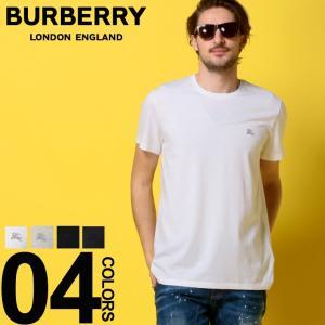 バーバリー BURBERRY Tシャツ 半袖 ロゴ 刺繍 クルーネック メンズ BB40618|zen