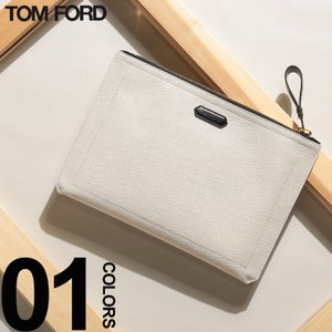トム フォード TOM FORD クラッチバッグ キャンバス レザー ゴールドジップ ブランド メンズ バッグ クラッチ TFH0271TF31|zen