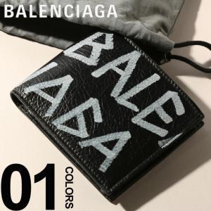 バレンシアガ BALENCIAGA 財布 レザー キャリー スクエア コイン ウォレット ブランド メンズ レディース ウォレット 二つ折り ロゴ プリント BC5104760EE12|zen