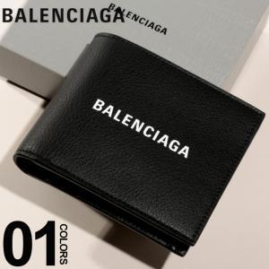 バレンシアガ BALENCIAGA 財布 レザー エブリデイ ロゴ コイン ウォレット ブランド メンズ レディース 二つ折り プリント BC487435DLQHN|zen