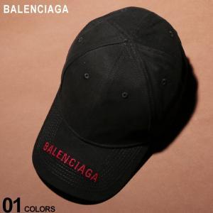 バレンシアガ BALENCIAGA キャップ コットン ロゴ 刺繍 マジックテープ アジャスター ブランド メンズ 帽子 BC541400410B2 zen