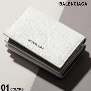 バレンシアガ BALENCIAGA ウォレット レザー ロゴ 三つ折り ミニ 財布 VILLE ブランド メンズ レディース BC5582080OTG3|zen