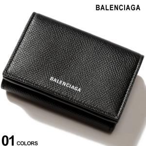 【無料クリスマスラッピング対象】 バレンシアガ BALENCIAGA 財布 レザー ロゴ 三つ折り ...