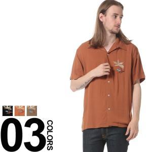 GLOVE HOUSE グローブハウス レーヨン 胸刺繍 オープンカラー 半袖 シャツ|zen