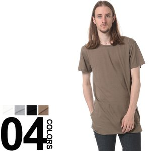 SUPERIOR EL スペリオール エル 日本製 無地 ロング クルーネック 半袖 Tシャツ|zen