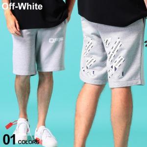オフホワイト メンズ スウェット ショートパンツ OFF-WHITE ロゴ プリント AIRPORT TAPE ブランド ボトムス ショーツ スエット OWCI06S20E30003 zen