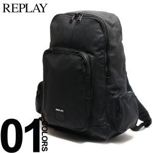 リプレイ REPLAY バックパック コーティングデニム ロゴ リュックサック デイパック バッグ ブランド メンズ レディース FM3275 bag|zen