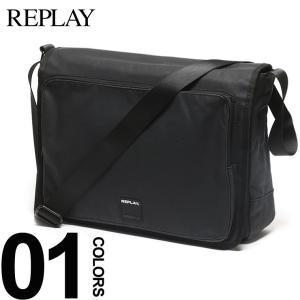 リプレイ REPLAY ショルダーバッグ コーティングデニム フラップ ブランド メンズ レディース バッグ 斜めがけ FM3276 bag|zen