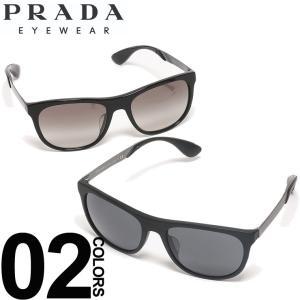プラダ PRADA サングラス ロゴ ウエリントンフレーム ブランド メンズ 眼鏡 アイウェア PR04SSF sunglasses|zen