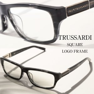 トラサルディー TRUSSARDI メガネフレーム ロゴ スクエアフレーム アイウェア ブランド メンズ 眼鏡 伊達メガネ TITR12508|zen