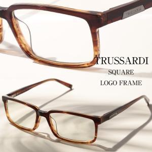 トラサルディー TRUSSARDI メガネフレーム グラデ スクエアフレーム アイウェア ブランド メンズ 眼鏡 伊達メガネ TITR12747|zen
