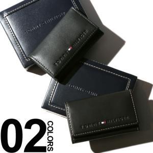 トミーヒルフィガー TOMMY HILFIGER キーケース 6連 レザー ロゴ 三つ折り ブランド メンズ TM31TL17X005|zen
