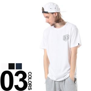 デウスエクスマキナ Deus ex Machina 胸ロゴ バックプリント クルーネック 半袖 Tシャツ DMW41808C メンズ Tシャツ クルーネック|zen