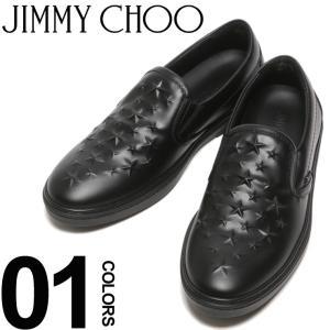 ジミーチュウ JIMMY CHOO スリッポン スニーカー レザー エンボススター GROVE メンズ ブランド 靴 シューズ 星 JCGROVEAOA|zen