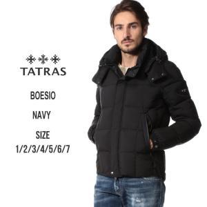 タトラス TATRAS ダウンジャケット メンズ ブロックキルト パーカー フード BOESIO ボエジオ ブランド メンズ アウター ナイロン ブルゾン TRMTA19A4566 zen