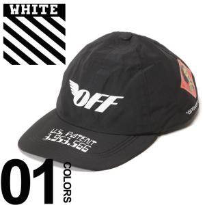 オフホワイト OFF-WHITE キャップ ゴアテックス プリント GORE-TEX ブランド メンズ 帽子 スナップバック OWLB15F18656037|zen