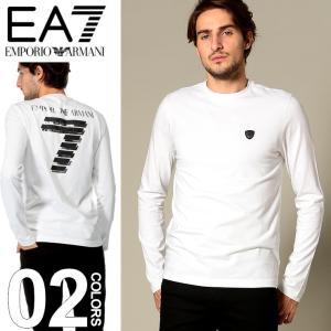 エンポリオ アルマーニ EMPORIO ARMANI EA7 Tシャツ 長袖 バックプリント クルーネック ブランド メンズ トップス ロンT コットン カットソー EA6ZPT95PJP6Z|zen