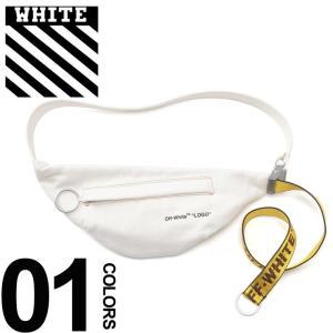 b25918fab8d4 オフホワイト OFF-WHITE ボディバッグ キャンバス インダストリアル ロゴ ベルト ウエストポーチ WAIST BAG WHITE ブランド  メンズ バッグ 鞄 OWNA63S19386001