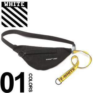 42678d01e805 オフホワイト OFF-WHITE ボディバッグ キャンバス インダストリアル ロゴ ベルト ウエストポーチ WAIST BAG BLACK ブランド  メンズ バッグ 鞄 OWNA63S19812001