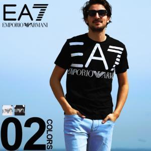 エンポリオ アルマーニ EA7 EMPORIO ARMANI Tシャツ 半袖 ロゴ プリント クルーネック メンズ EA3GPT06PJ02Z|zen