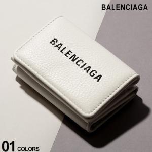 バレンシアガ BALENCIAGA ウォレット レザー エブリデイ ロゴ 三つ折り ミニ 財布 ブランド メンズ レディース BC551921DLQ4N|zen