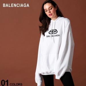 バレンシアガ レディース BALENCIAGA パーカー スウェット ロゴ プリント プルオーバー ビッグシルエット NEW BB LOGO ブランド トップス フード BCL570792TEV19 zen