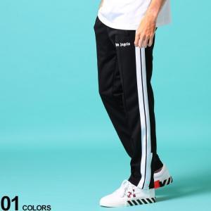 パームエンジェルス メンズ ジャージ Palm Angels ロゴ サイドライン 裾ジップ ロングパンツ CLASSIC ブランド ボトムス パンツ トラックパンツ PACA07R20384001 zen