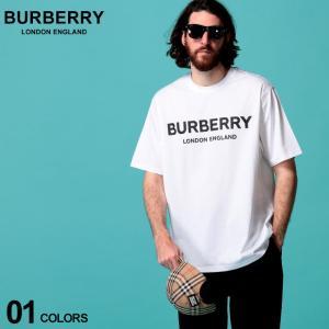 バーバリー メンズ Tシャツ 半袖 BURBERRY ロゴ プリント クルーネック 白 ブランド トップス コットン BB8026017|zen