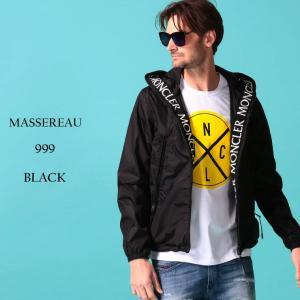 モンクレール メンズ ナイロンジャケットMONCLER ナイロンパーカー ロゴ 刺繍 フード MASSEREAU マセロー ブランド アウター MCMASSEREAU0|zen