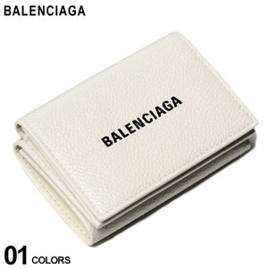 バレンシアガ 財布 BALENCIAGA カーフレザー ロゴ 三つ折り財布 キャッシュ CASH ブランド メンズ レディース レザー ウォレット ミニ財布 BC5943121IZI3 zen