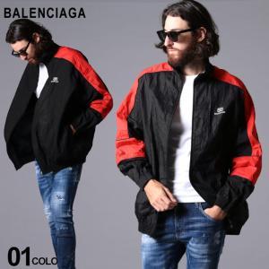バレンシアガ メンズ ブルゾン BALENCIAGA しわ加工 コットン ポプリン ジャケット CRINCKLED POPLIN ブランド アウター ビッグシルエット BC627086TIM30 zen