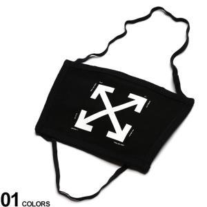 オフホワイト マスク OFF-WHITE 綿100% プリント ARROW ブランド メンズ レディース コットン プリント 黒マスク 頭掛け OWRG02E20FAB001|zen