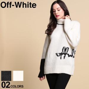 オフホワイト レディース ニット OFFWHITE アルパカ タートルネック セーター ブランド トップス ハイネック ウール ロゴ タートル OWLHF08E20KNI01 zen