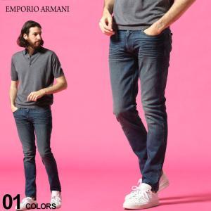 エンポリオアルマーニ メンズ デニムパンツ EMPORIO ARMANI ストレッチ イーグル ロゴ ジップフライ ジーンズ SLIM ブランド ボトムス スリム EA8N1J061V0MZ|zen