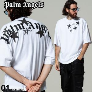 Palm Angels パームエンジェルス スター ロゴ プリント クルーネック 半袖 Tシャツ SHOOTING STARS ブランド メンズ トップス PAAA02F21JER004|zen