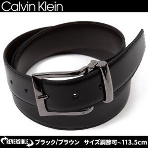 カルバンクライン Calvin Klein CK レザー ベ...