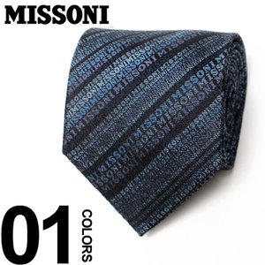 ミッソーニ MISSONI シルク ロゴ総柄 ネクタイブランド メンズ 紳士 ビジネス MS61160002 クリスマスプレゼント 男性|zen