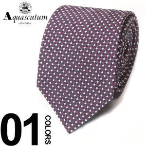 アクアスキュータム Aquascutum ネクタイ シルク100% ドット ブランド メンズ 紳士 ビジネスAQAW6172|zen
