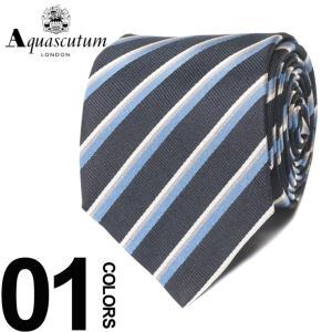 アクアスキュータム Aquascutum ネクタイ シルク100% レジメンタル ストライプ ブランド メンズ 紳士 ビジネスAQAW6131|zen